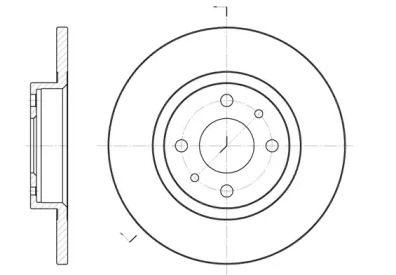 Передний тормозной диск на Лянча Ипсилон 'ROADHOUSE 6191.00'.