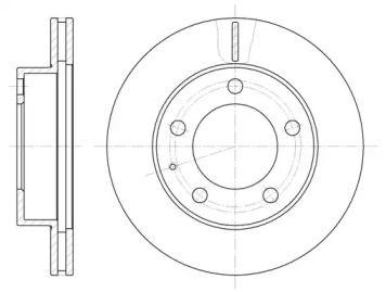 Вентилируемый передний тормозной диск на Мазда Кседос 6 'ROADHOUSE 6203.10'.
