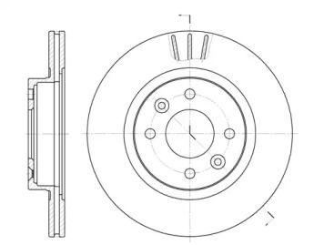 Вентилируемый передний тормозной диск на Рено 25 'ROADHOUSE 6204.10'.