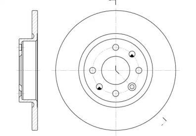 Передний тормозной диск на Вольво 480 'ROADHOUSE 6209.00'.