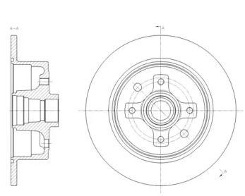 Задний тормозной диск на OPEL CALIBRA 'ROADHOUSE 6217.00'.