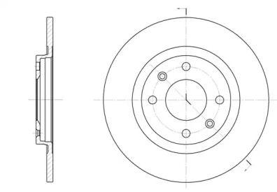 Передний тормозной диск на CITROEN BX 'ROADHOUSE 6241.01'.