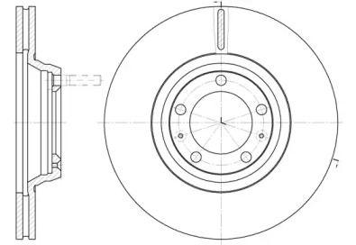 Вентилируемый передний тормозной диск на Альфа Ромео 75 'ROADHOUSE 6247.10'.