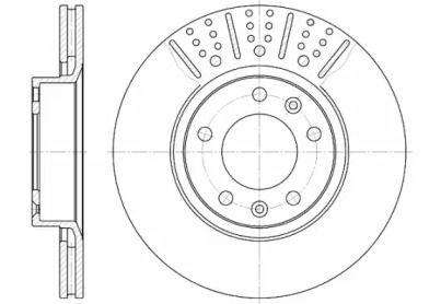 Вентилируемый передний тормозной диск на Пежо 605 'ROADHOUSE 6265.10'.