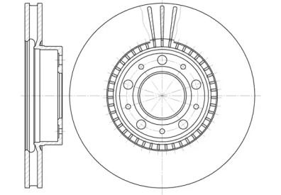 Вентилируемый передний тормозной диск на VOLVO 760 'ROADHOUSE 6304.10'.