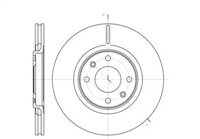 Вентилируемый передний тормозной диск на CITROEN XANTIA 'ROADHOUSE 6306.10'.