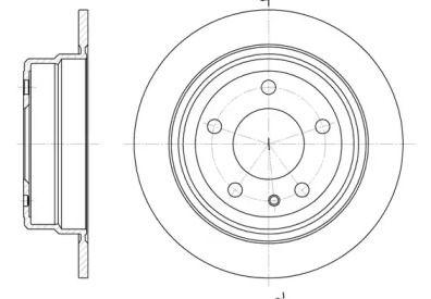 Задний тормозной диск на BMW 6 'ROADHOUSE 6308.00'.