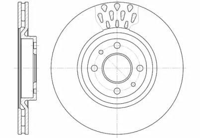 Вентилируемый передний тормозной диск на Фиат Мультипла 'ROADHOUSE 6315.10'.