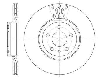 Вентилируемый передний тормозной диск на Альфа Ромео 147 'ROADHOUSE 6316.10'.