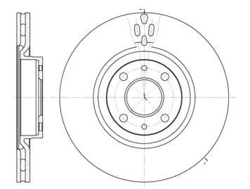 Вентилируемый передний тормозной диск на LANCIA LYBRA 'ROADHOUSE 6316.11'.
