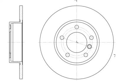 Передний тормозной диск на BMW Z3 'ROADHOUSE 6323.00'.