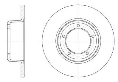 Передний тормозной диск на Дефендер 'ROADHOUSE 6341.00'.