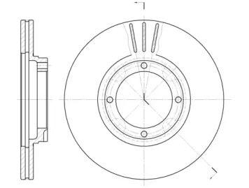 Вентилируемый передний тормозной диск на Хендай Пони 'ROADHOUSE 6374.10'.