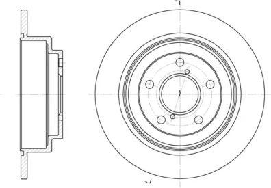 Задний тормозной диск на Субару Импреза 'ROADHOUSE 6398.00'.