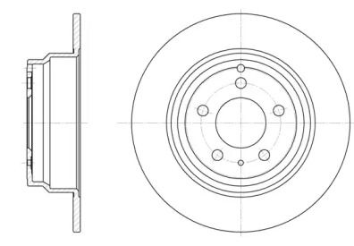 Задний тормозной диск на Вольво 850 'ROADHOUSE 6411.00'.