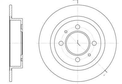 Передний тормозной диск на Ниссан Санни 'ROADHOUSE 6424.00'.