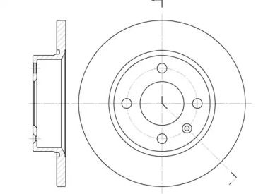 Передний тормозной диск ROADHOUSE 6425.00.
