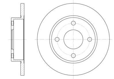 Передний тормозной диск на MAZDA 121 'ROADHOUSE 6427.00'.
