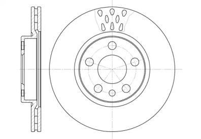Вентилируемый передний тормозной диск на PEUGEOT EXPERT 'ROADHOUSE 6442.11'.
