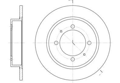 Задний тормозной диск на MITSUBISHI CARISMA 'ROADHOUSE 6447.00'.