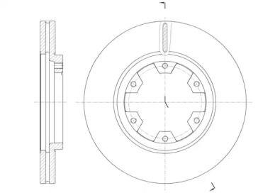 Вентилируемый передний тормозной диск на Ниссан Террано 'ROADHOUSE 6466.10'.