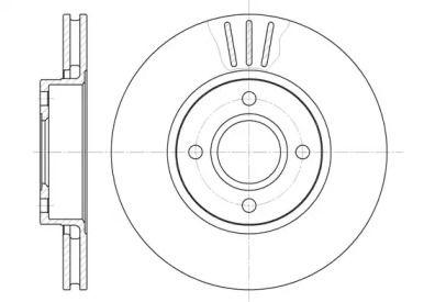 Вентилируемый передний тормозной диск на Форд Кугар 'ROADHOUSE 6469.10'.