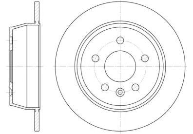 Задний тормозной диск на Мерседес В Класс 'ROADHOUSE 6471.00'.
