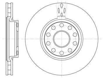 Вентилируемый передний тормозной диск на Лянча Каппа ROADHOUSE 6479.10.