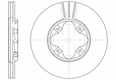 Вентилируемый передний тормозной диск на ROVER 600 'ROADHOUSE 6485.10'.