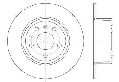 Задний тормозной диск на Сааб 900 'ROADHOUSE 6487.00'.