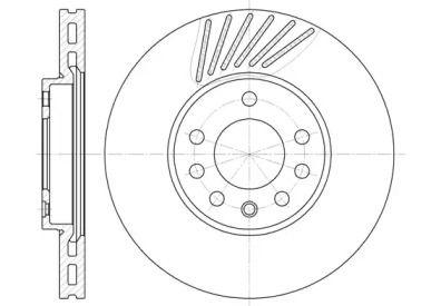 Вентилируемый передний тормозной диск на SAAB 900 'ROADHOUSE 6494.10'.