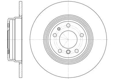 Задний тормозной диск на БМВ 8 'ROADHOUSE 6510.00'.