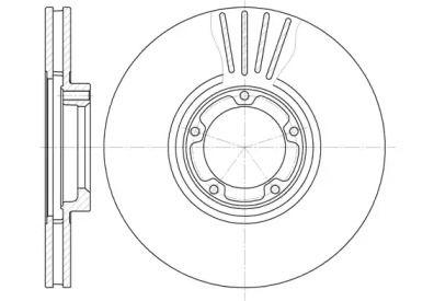 Вентилируемый передний тормозной диск на FORD TRANSIT TOURNEO 'ROADHOUSE 6518.10'.