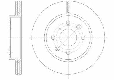 Вентилируемый передний тормозной диск на KIA SHUMA 'ROADHOUSE 6523.10'.