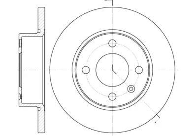 Передний тормозной диск на Шкода Фаворит 'ROADHOUSE 6538.00'.