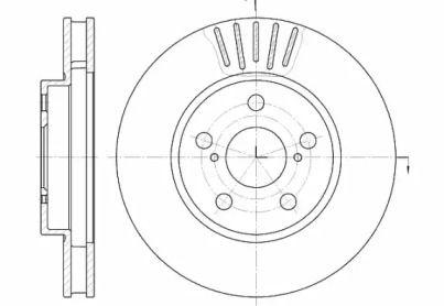 Вентилируемый передний тормозной диск на TOYOTA CARINA 'ROADHOUSE 6541.10'.
