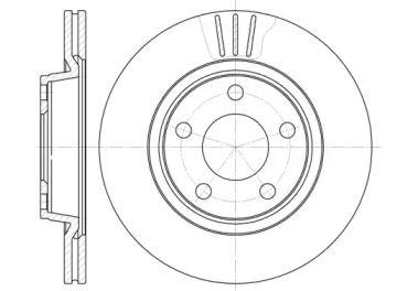 Вентилируемый передний тормозной диск на VOLKSWAGEN PHAETON 'ROADHOUSE 6548.10'.