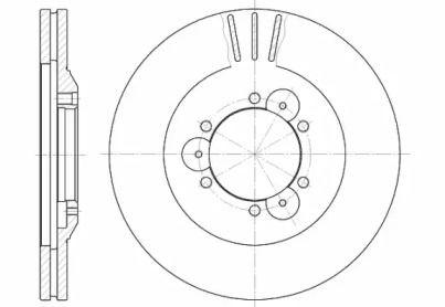 Вентилируемый передний тормозной диск на OPEL FRONTERA 'ROADHOUSE 6560.10'.