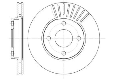 Вентилируемый передний тормозной диск на Форд Фьюжн 'ROADHOUSE 6575.10'.