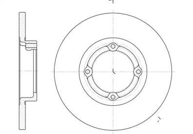 Передний тормозной диск на Дэу Матиз 'ROADHOUSE 6606.00'.