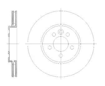 Вентилируемый передний тормозной диск на Ровер 75 'ROADHOUSE 6614.10'.