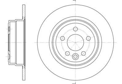 Задний тормозной диск на Ровер 75 'ROADHOUSE 6615.00'.