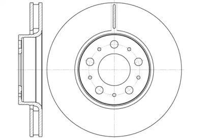 Вентилируемый передний тормозной диск на Вольво С70 'ROADHOUSE 6619.10'.
