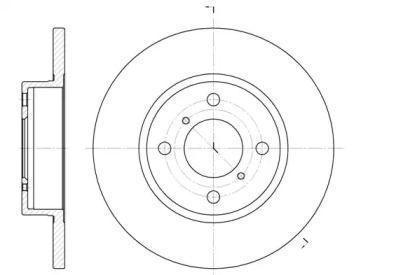 Передний тормозной диск на Опель Агила 'ROADHOUSE 6621.00'.