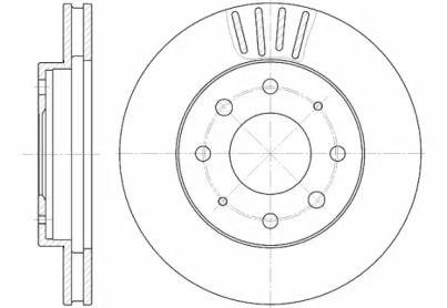 Вентилируемый передний тормозной диск на MITSUBISHI GALLOPER 'ROADHOUSE 6625.10'.