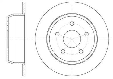 Задний тормозной диск на Джип Гранд Чероки 'ROADHOUSE 6628.00'.