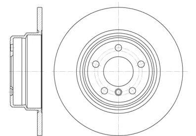 Задний тормозной диск на BMW X5 'ROADHOUSE 6632.00'.