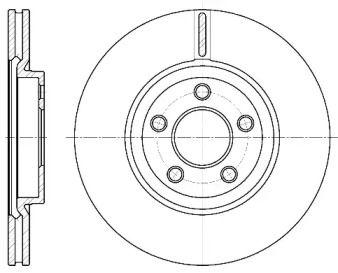 Вентилируемый передний тормозной диск на CHRYSLER PT CRUISER 'ROADHOUSE 6637.10'.