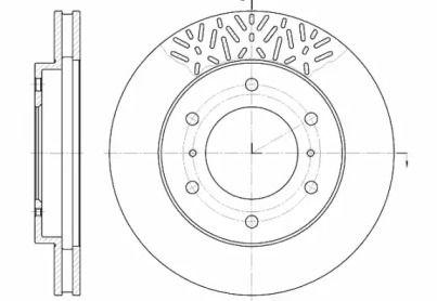 Вентилируемый передний тормозной диск на MITSUBISHI PAJERO SPORT 'ROADHOUSE 6639.10'.