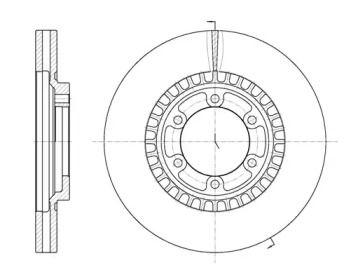 Вентилируемый передний тормозной диск на Хендай Терракан 'ROADHOUSE 6669.10'.